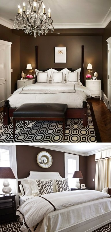 Especial dormitorios vamos a la cama lazareno estudio for Black white and brown bedroom ideas