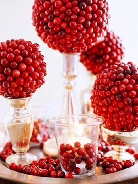 Centros de navidad frutas y hortalizas una opción