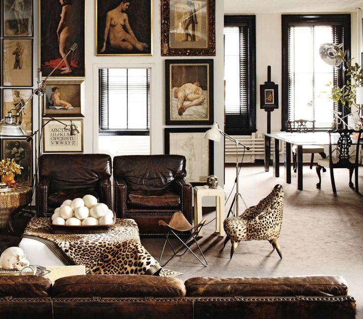 Decorar con estampados pierde el miedo lazareno estudio - Animal print living room decorating ideas ...